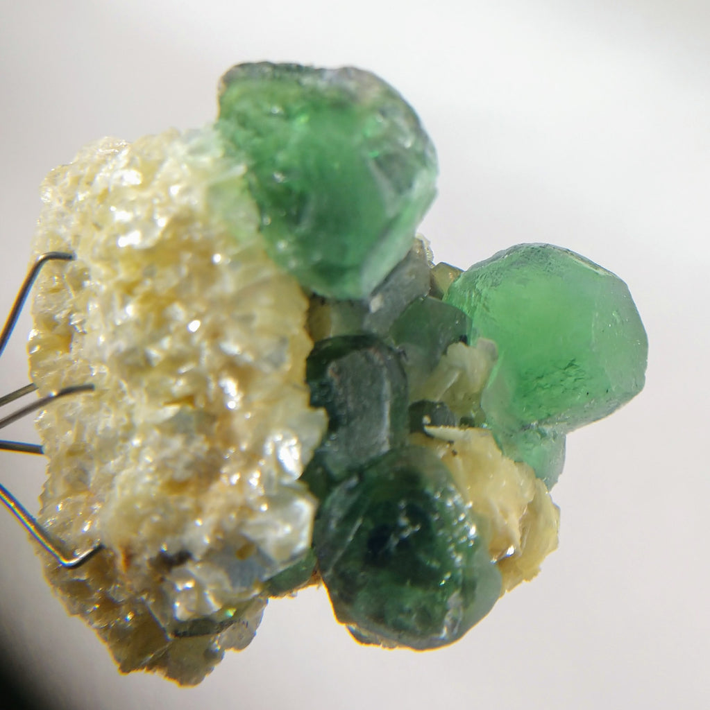 Green Fluorite with Schorl and Mica