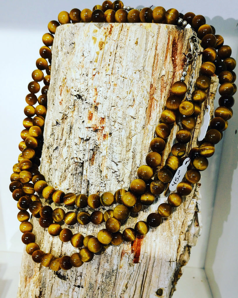 Tiger Eye Bead Necklace