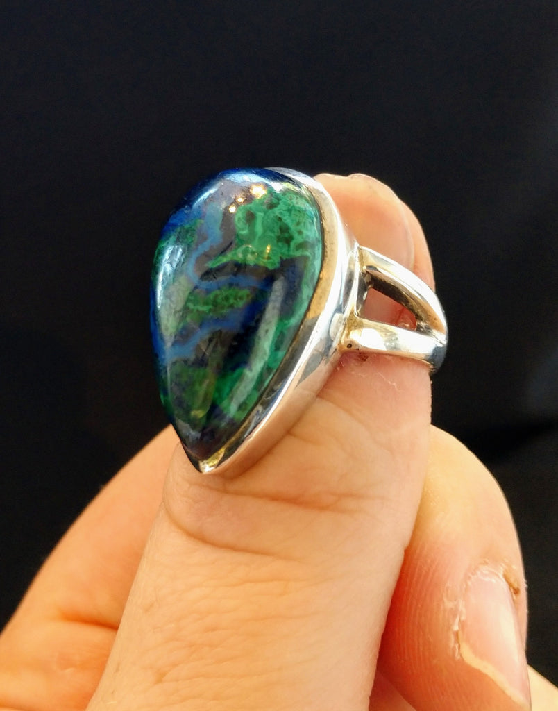 Malachite and Azurite Ring