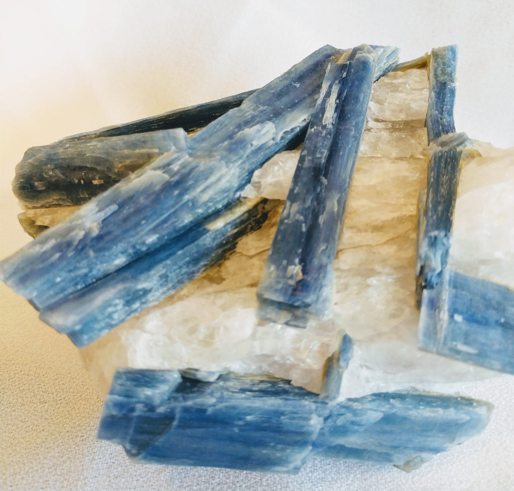 Blue Kyanite and Quartz