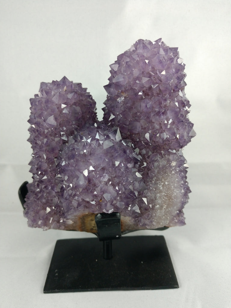 Amethyst Stalactite Formation on Custom Metal Stand