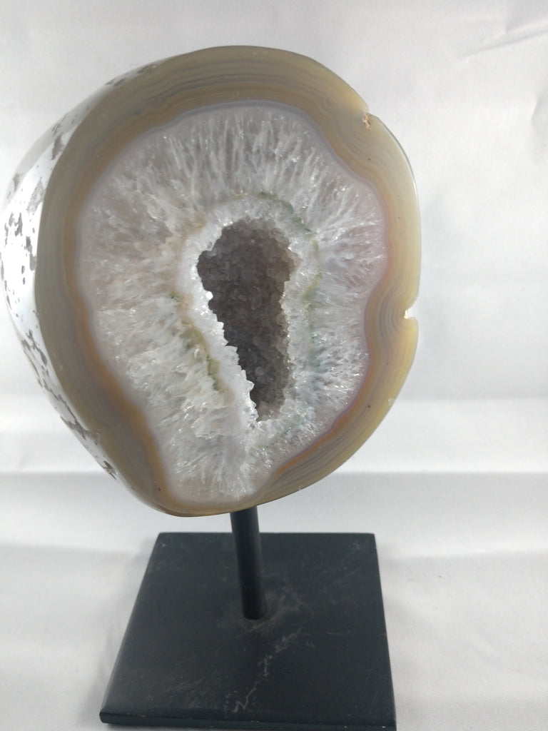 Agate Slice on Custom Metal Stand