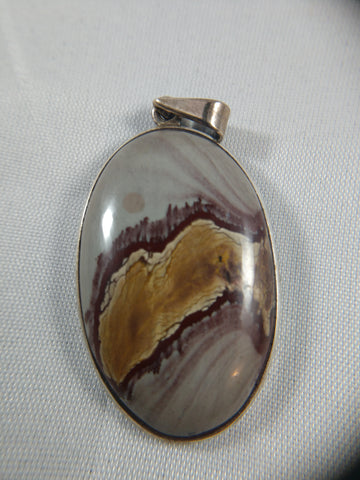 Jasper Pendant in Sterling Silver