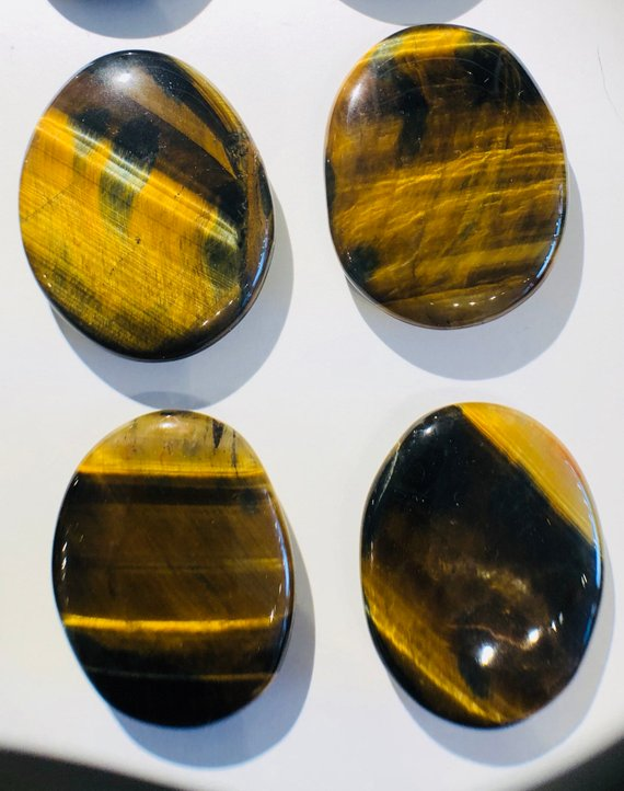 Golden/Blue Tiger Eye Palm Stone