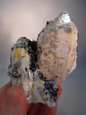Quartz w/ Anatase, Hunan Province, China