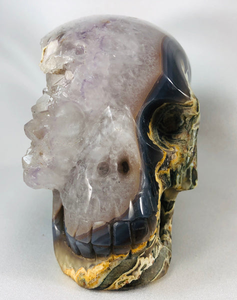 Amethyst and Agate Skull