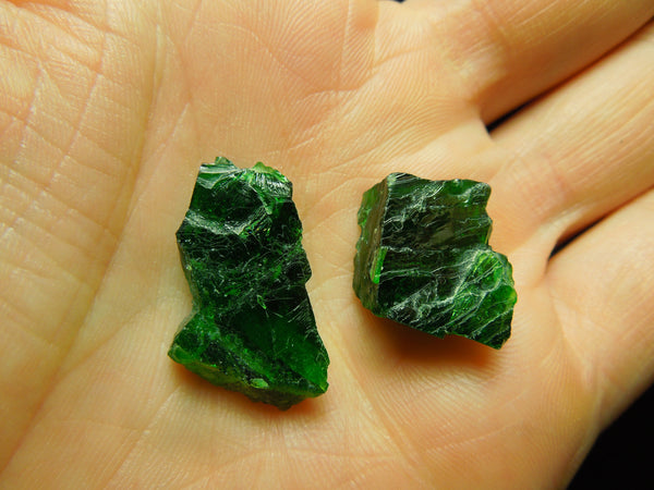 Chrome Diopside, Lot of 2