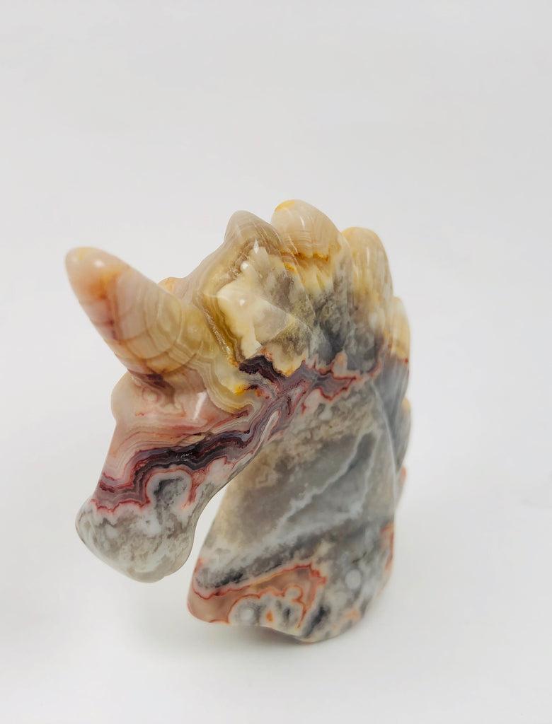 Agate Unicorn Carving