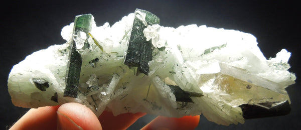 Cleavelandite w/ Tourmaline & Quartz