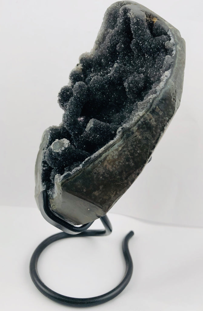 Druzy Black Quartz Stalactite Formation