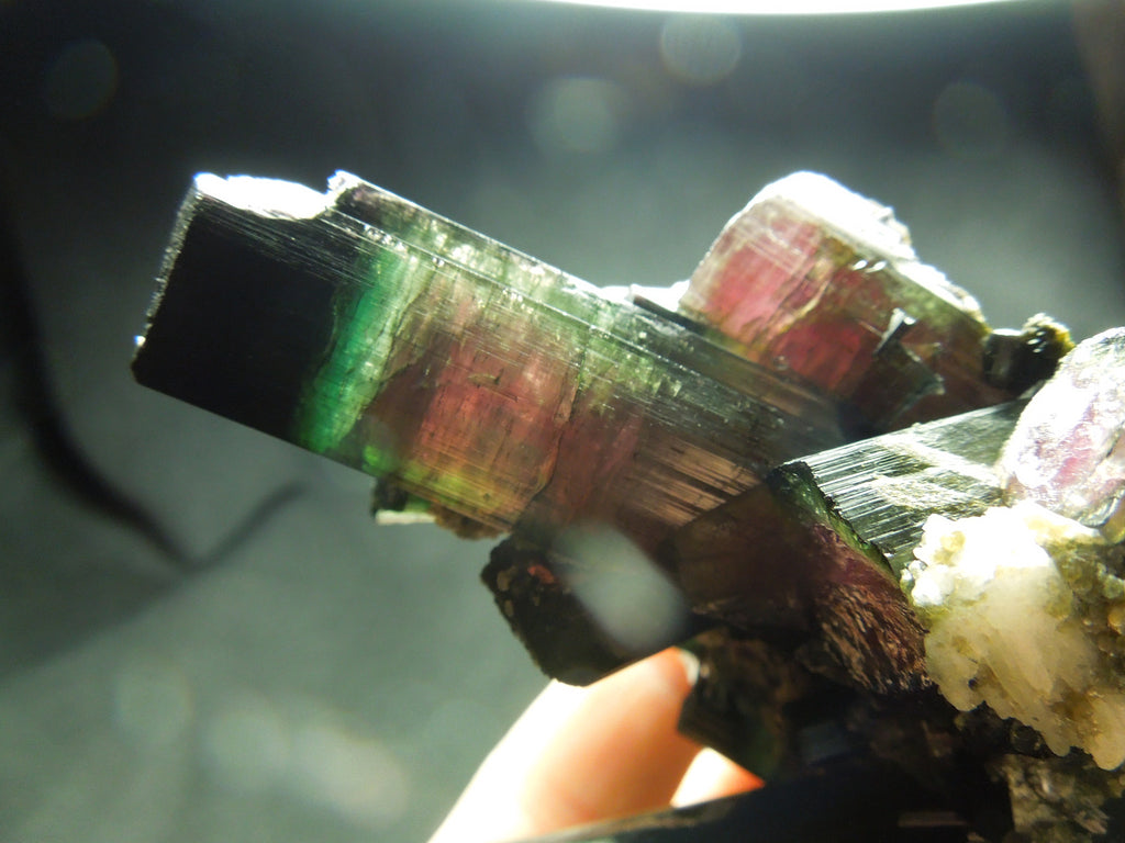 Watermelon Tourmaline w/ Quartz & Cleavelandite