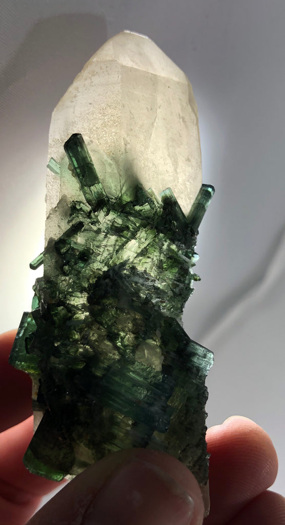 Quartz with Green Tourmaline