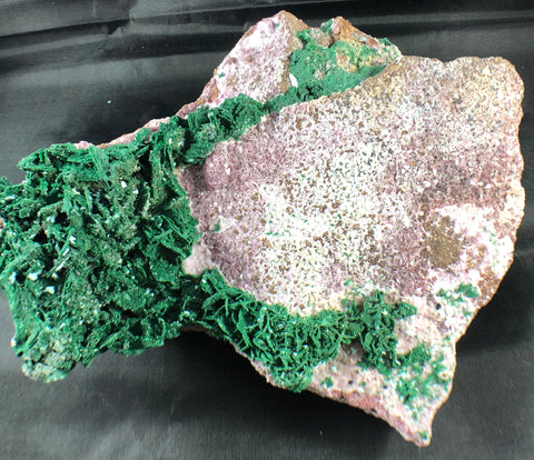 Quartz w/ Spherocobaltite and Malachite, 3.25 lbs.