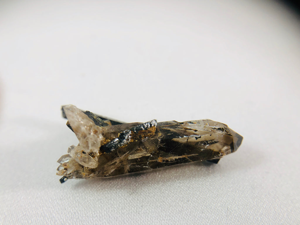 Aegirine with Smoky Quartz