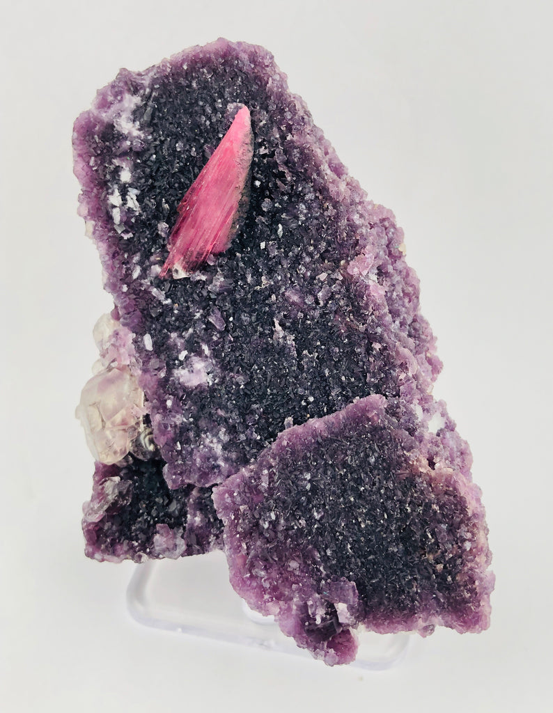 Rubellite Tourmaline on Lepidolite w/ Quartz