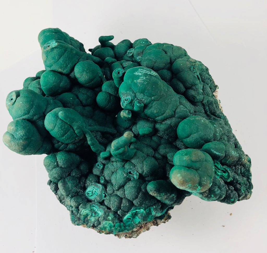 Botryodial Malachite with stalactites