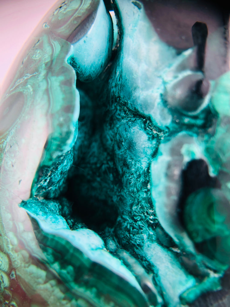 Malachite Egg with Chrysocolla