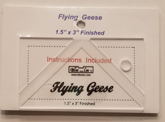 "Bloc Loc Flying Geese 1.5"" x 3"" Finished Ruler"
