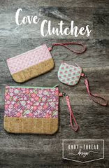 Cove Clutches by Knot and Thread Designs in 3 sizes