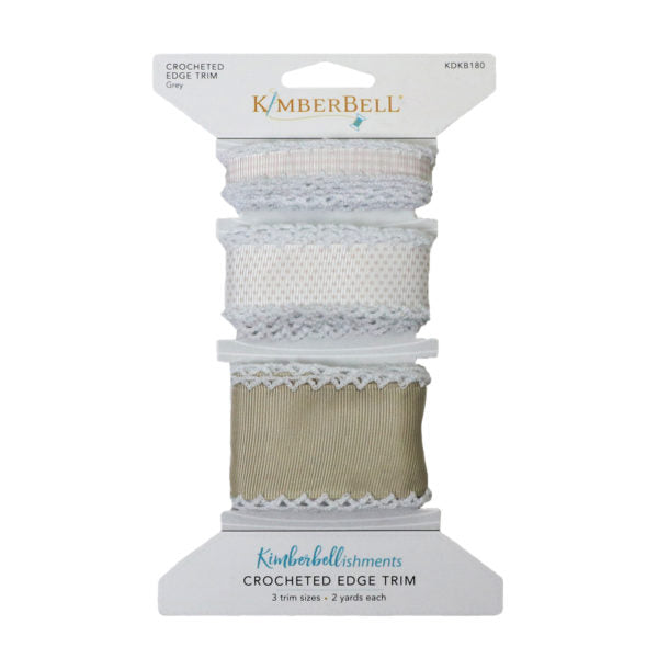 Kimberbell Crocheted Edge Trim Grey