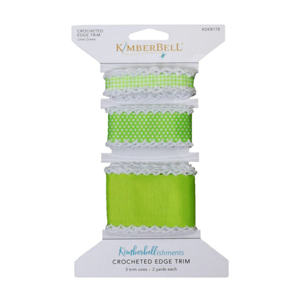 Kimberbell Crocheted Edge Trim Lime Green