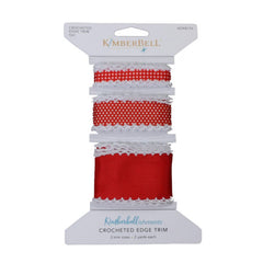 Kimberbell Crocheted Edge Trim Red