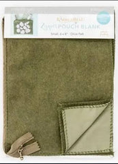 Kimberbell May Fill in the Blanks Olive Zipper Pouch