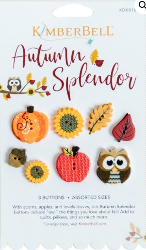 Kimberbell Autumn Splendor Button Pack