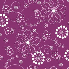 Kimberbell Basics Violet Doodle Flower by Kimberbell Designs for Maywood Studio