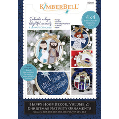 Cover Kimberbell Designs Happy Hoop Decor Vol 2: Christmas Nativity Ornaments