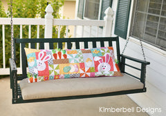 Kimberbell Hoppy Easter Bench Pillow on swing