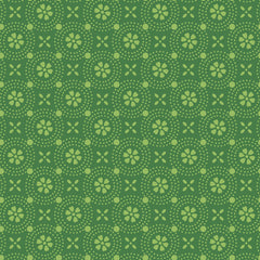 Kimberbell Basics Dark Green Floral Medallion by Kimberbell Designs for Maywood Studio