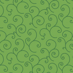 Kimberbell Basics Dark Green Scroll by Kimberbell Designs for Maywood Studio