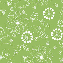 Kimberbell Basics Green Stitched Flower by Kimberbell Designs for Maywood Studio