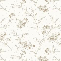 Make Yourself at Home Soft White & Taupe Queen Anne's Lace by Kimberbell Designs for Maywood Studio
