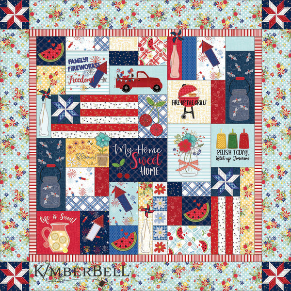 Kimberbell Red, White, and Bloom Machine Embroidery Quilt Kit