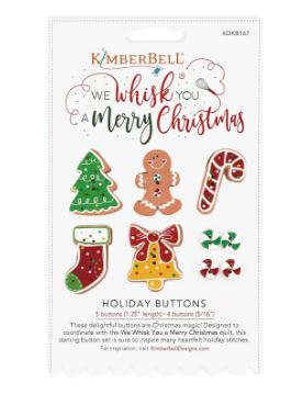 Kimberbell We Whisk You A Merry Christmas Button Pack