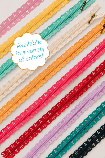 Kimberbell Lace Zippers in Assorted Colors
