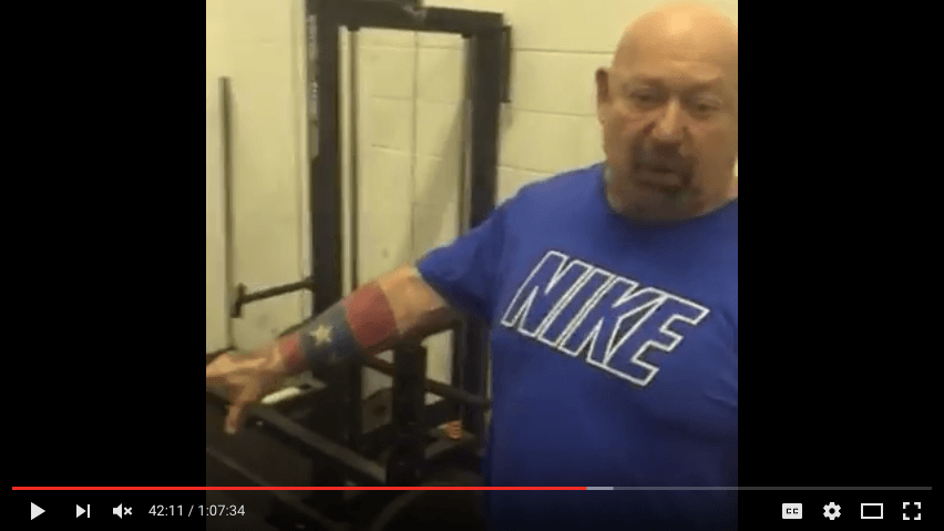 Free 1 hour Louie Simmons Westside Barbell Training Video