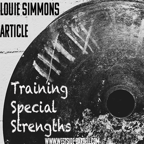 Training Special Strengths