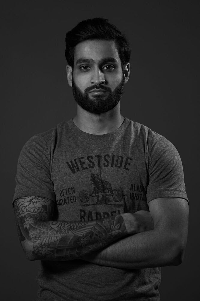 "<h1 class=""light-blue"">Sanjay Soekhoe</h1> <h4>Media Manger </h4> <p> </p><p>Sanjay Soekhoe grew up in the city of Rotterdam, The Netherlands. He gravitated towards weights to improve his performance in the martial arts scene.</p>  <p>After hearing one of Louie's podcasts he was hooked to the world of strength- and conditioning and proceeded to coach athletes in various disciplines.</p>  <p>In 2019, Sanjay had the opportunity to work side by side with Westside Barbell's staff and Louie Simmons himself, improving his knowledge and experience further.</p>  <p>Sanjay became part of Westside Barbell being in charge of the post-production of educational and media content as well as actively coordinating the online community engagement.</p>  <p></p><h6>Favorite Gym Exercise </h6><p>ATP Shadow Boxing</p> <h6>Unique Fact</h6><p> Can juggle up to seven juggling balls.</p> <h6>Favorite Louie Quote </h6><p>'Heaven and Hell, it's all in your head'</p> <p>Email: <a href=""mailto:Team@westside-barbell.com"">Sanjay@westside-barbell.com</a></p>"