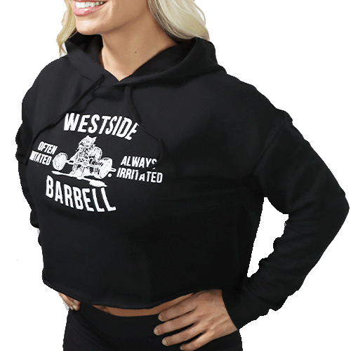 WSBB Women's Club Cropped Hoodie Black