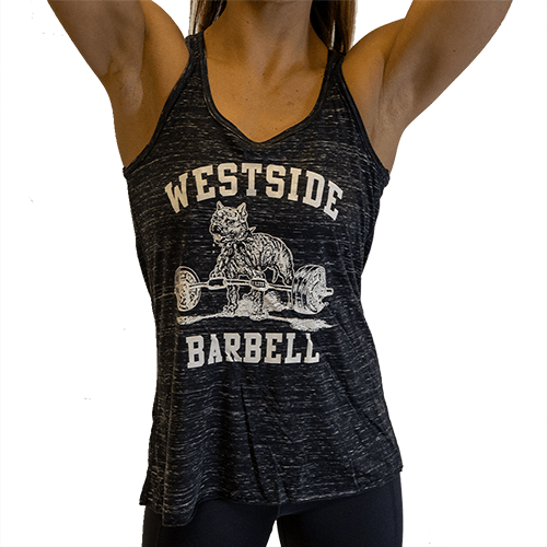 WSBB Women's Black Marble Tank Top