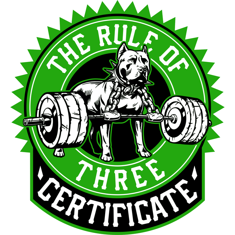The Rule of Three™ Certificate