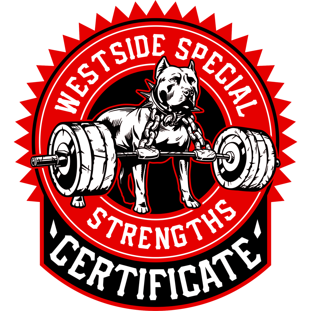 Special Strength Certificate
