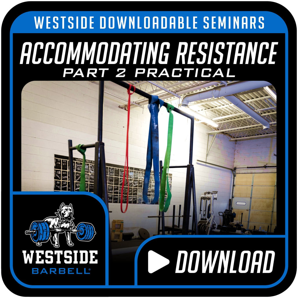 Westside Downloadable Seminars-Accommodating Resistance (Part 2 Practical)