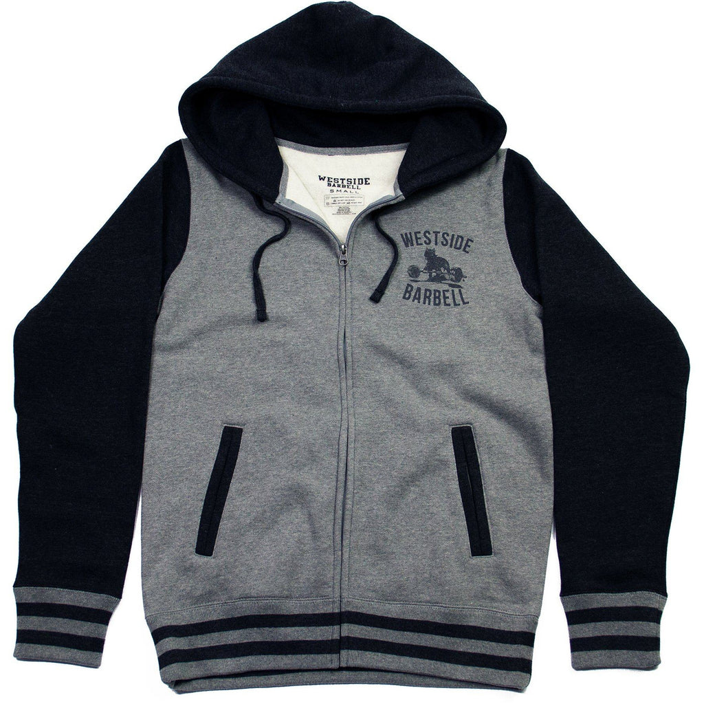 WSBB Mens Varsity Style Full Zip Hooded Sweatshirt