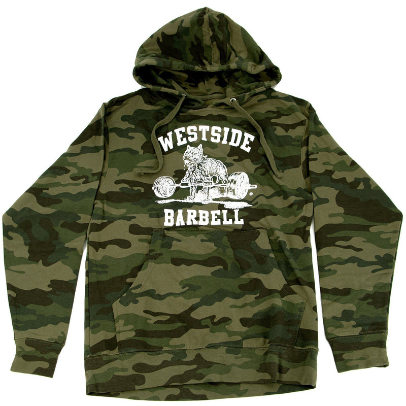 WSBB Mens Forest Camo Hooded Sweatshirt