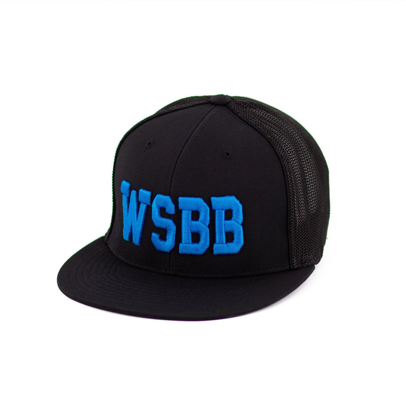 WSBB Flexfit® Flatbill Blue/Black Hat