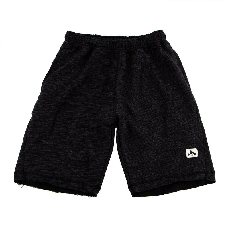 WSBB Mens Breeze Dark Heather Black Gym Shorts